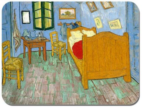 Vincent Van Gogh The Artist's Bedroom Mouse Mat. High Quality Mouse Pad Fine Art